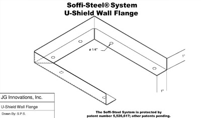 Soffi-Steel System U-Shield Wall Flange